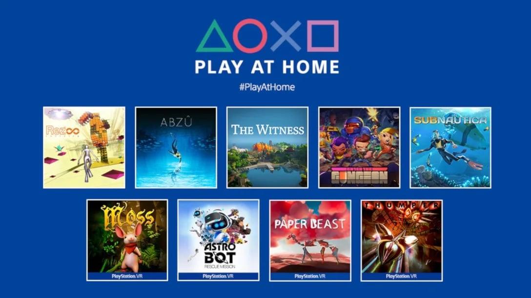 Lista de jogos do Play at home