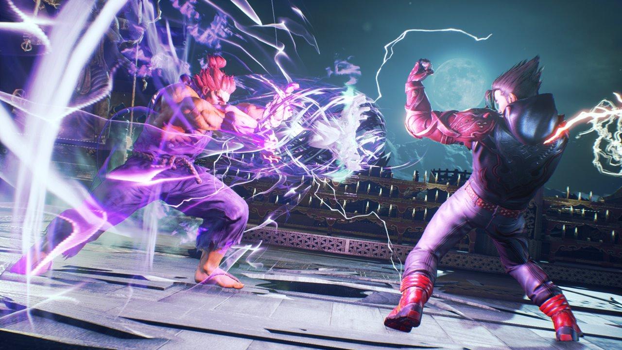 Akuma vs Jin em luta com poderes em Tekken 7