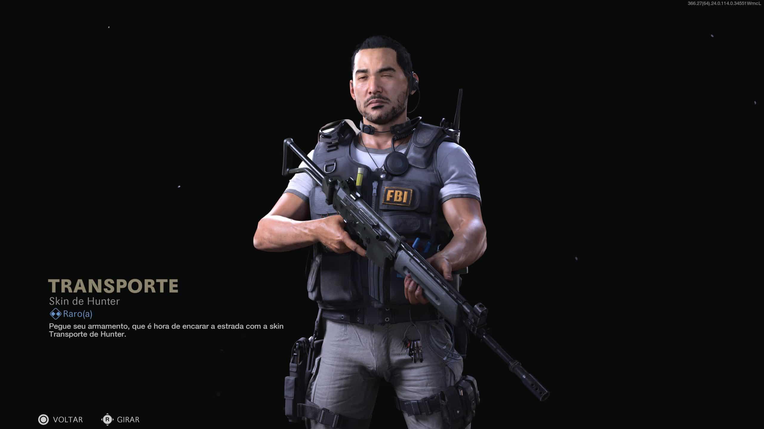 Hunter em destaque de nova skin do Passe de Batalha de Warzone