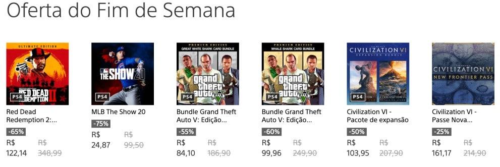 Promoção de Jogos digitais na PS Store tem jogos da Rockstar Games