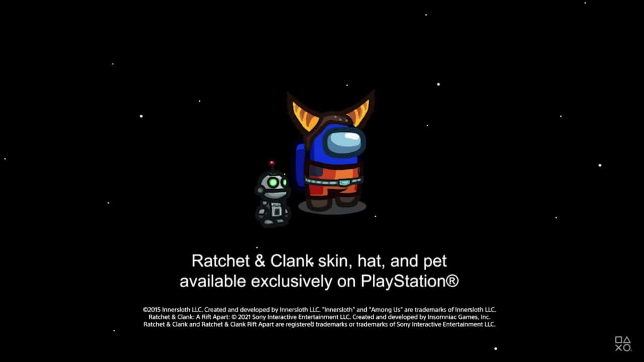 Among Us - PS4 e PS5 - Skin do Ratchet & Clank