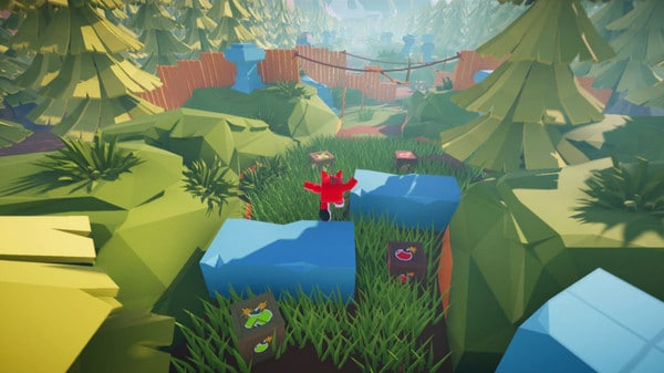 Imagem de capa do protagonista de Babol The Walking Box pulando numa floresta