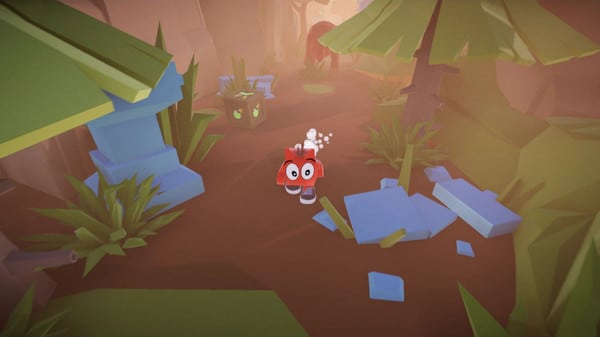 Imagem de capa do protagonista de Babol The Walking Box correndo numa floresta