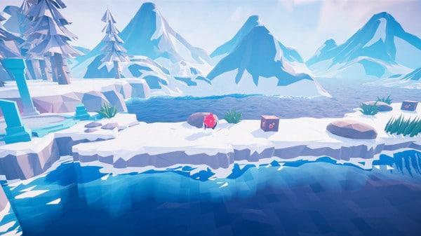 Imagem de capa do protagonista de Babol The Walking Box correndo pela neve