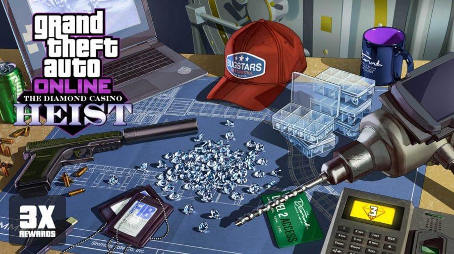 GTA Online oferece o triplo de recompensas nos trabalhos do Cassino até quarta (28)
