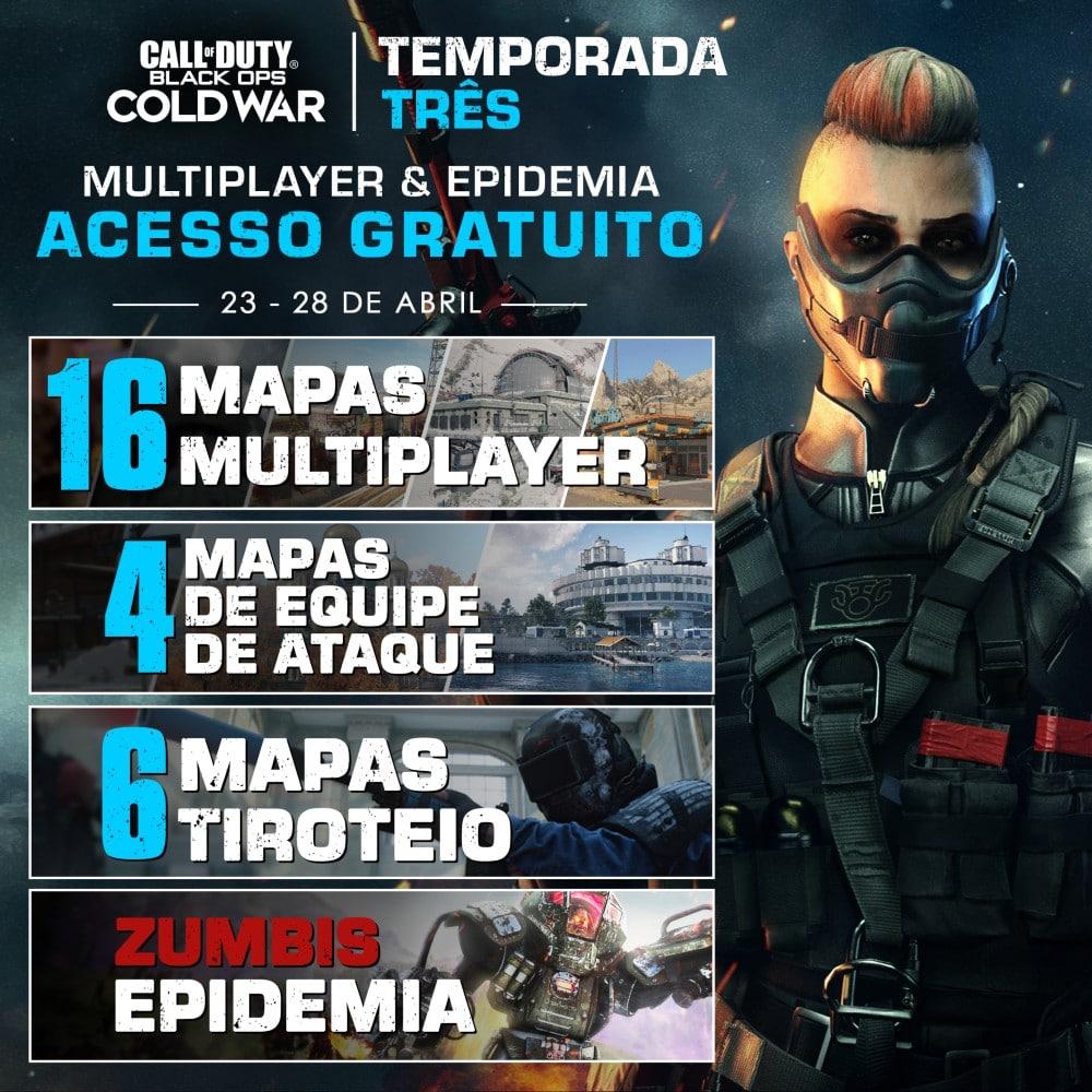Nova operadora com detalhes do Multiplayer de Call of Duty