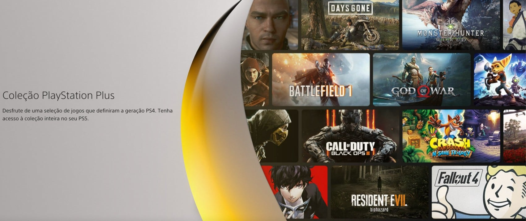 Diversas capas de jogos na Coleção PlayStation Plus