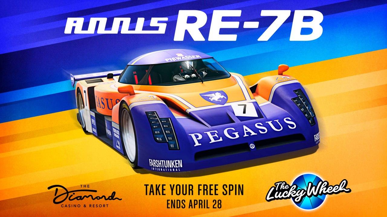 Imagem de capa do veículo Annis RE-7B, disponível na Roda da Fortuna de GTA Online