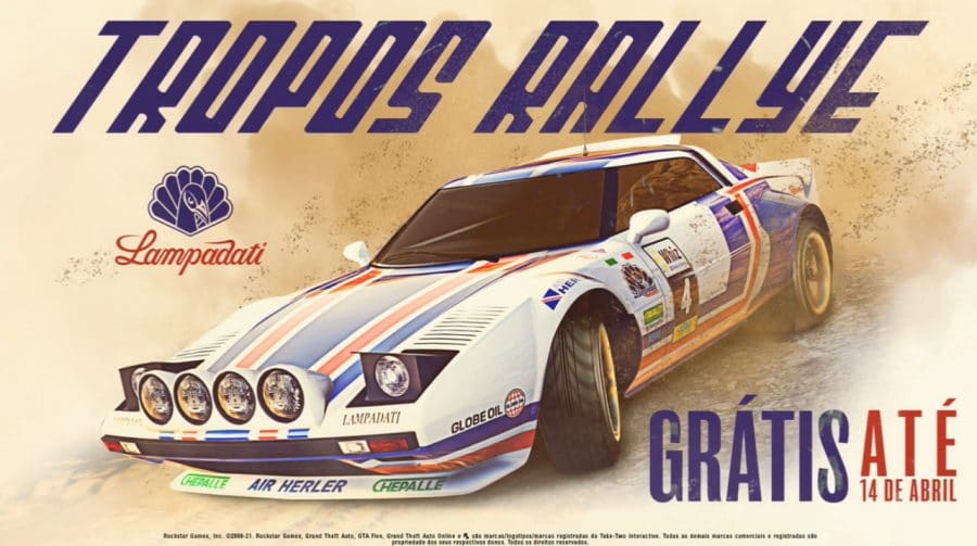Veículo Lampadati Tropos Rallye está grátis em GTA Online até o dia 14