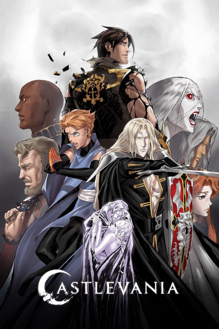 Protagonistas de Castlevania, anime da Netflix