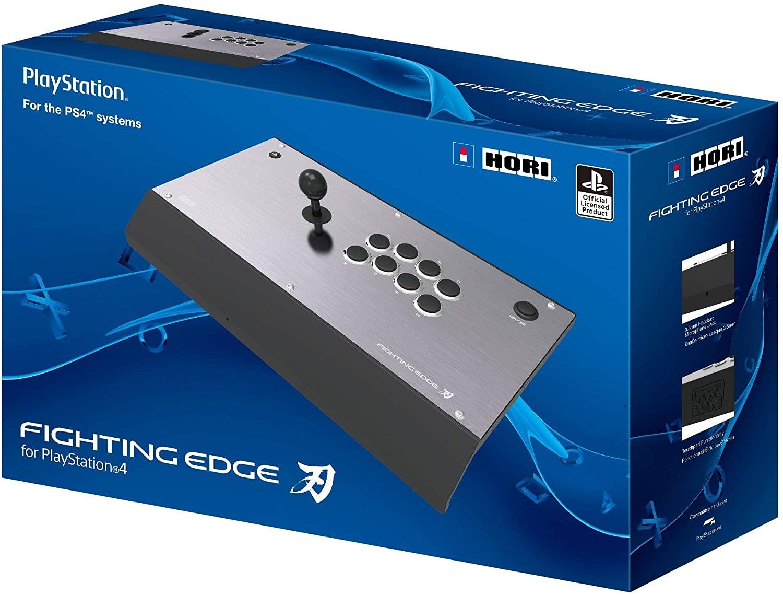 Imagem da caixa de um controle arcade de PS4