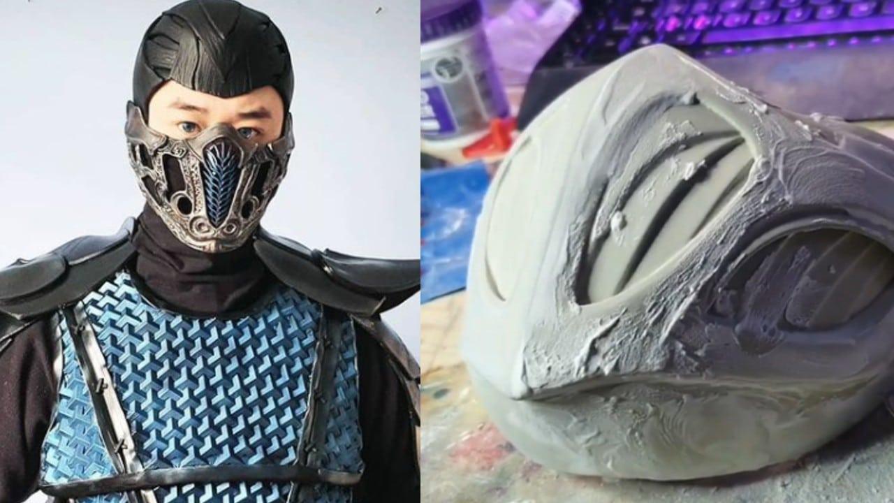 Cosplay Sub-Zero - Mortal Kombat - produção da mascara e armadura