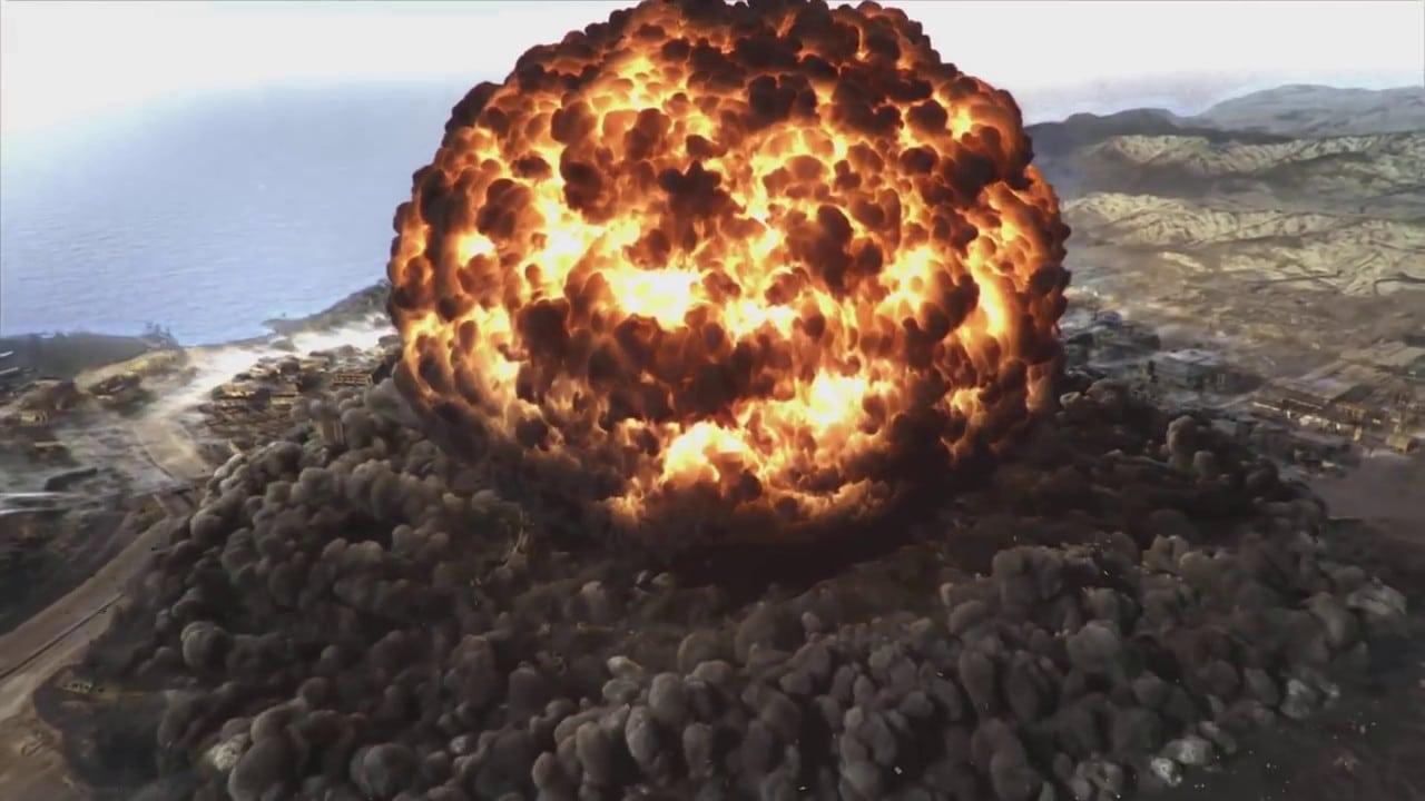 Explosão no mapa de Verdansk, do jogo Call of Duty: Warzone