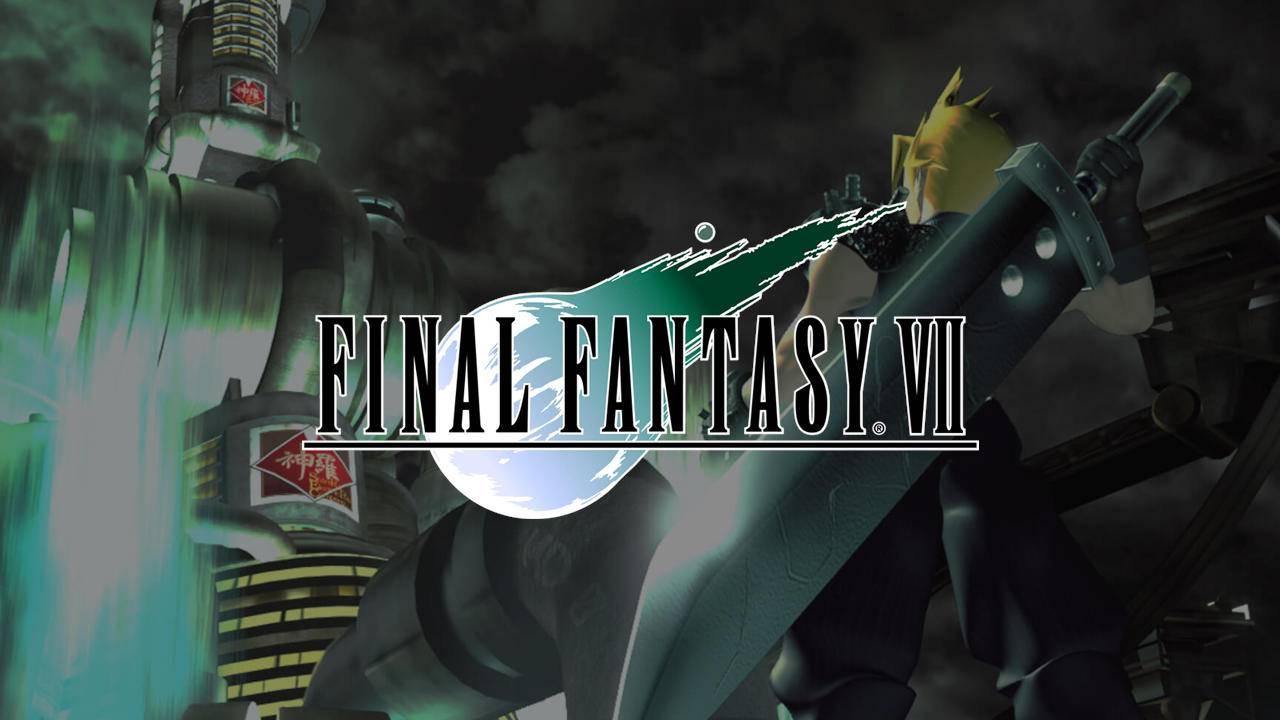 Final Fantasy VII - PlayStation 1 - Cloud na capa do jogo para PS1 segurando sua espada