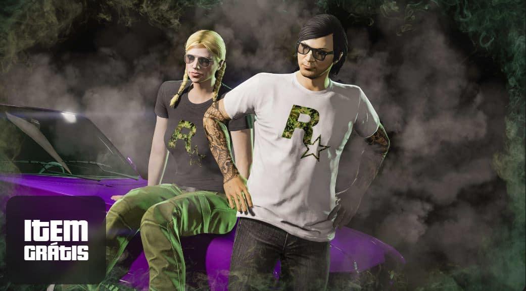 Camisetas Rockstar, de GTA Online