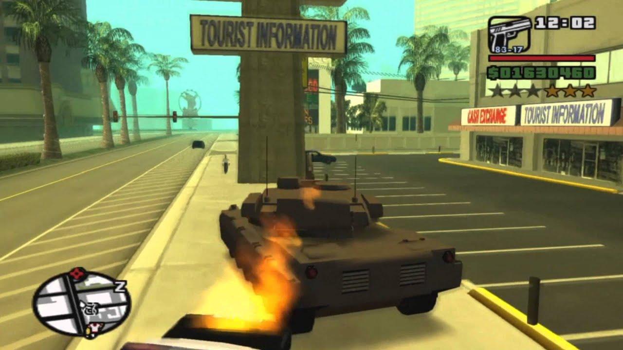 Tanque de Guerra na cidade de Los Santos