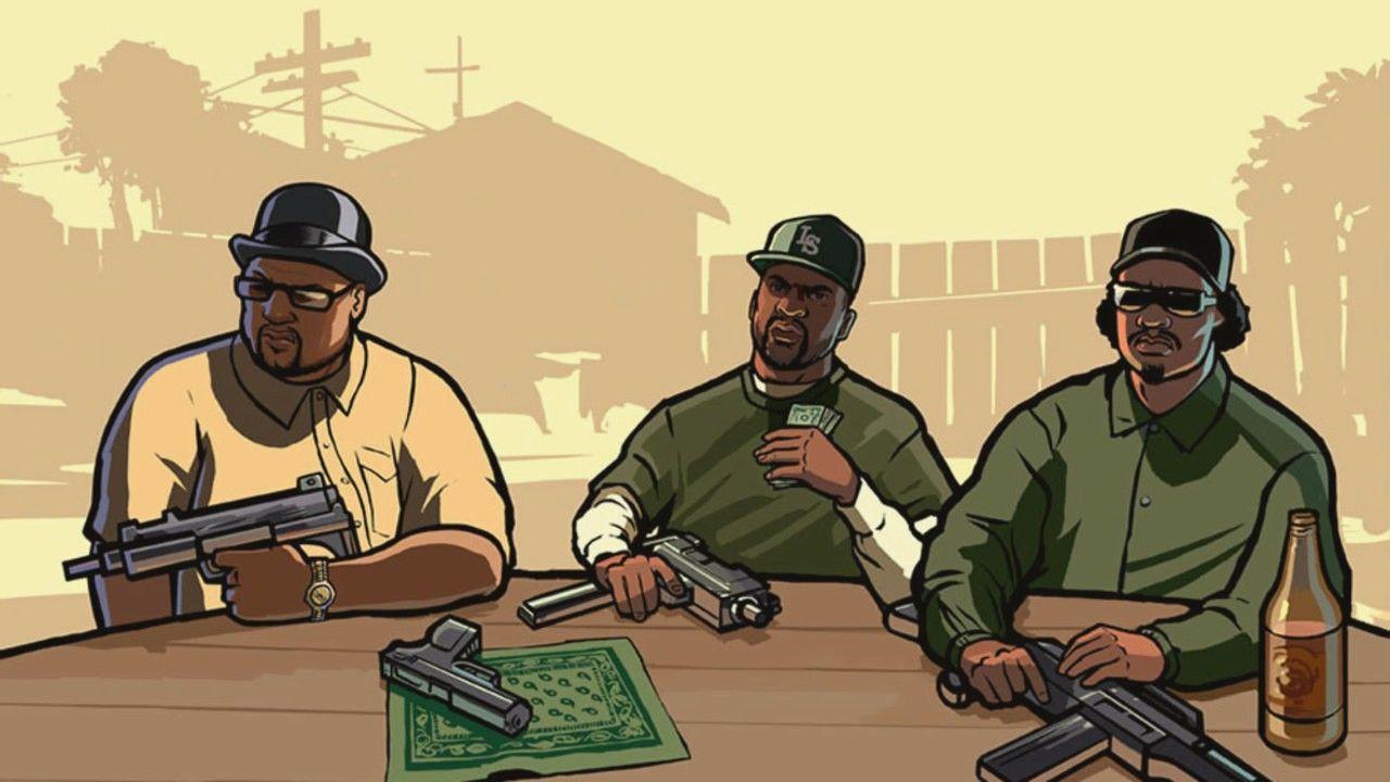 Três criminosos em Códigos de GTA San Andreas