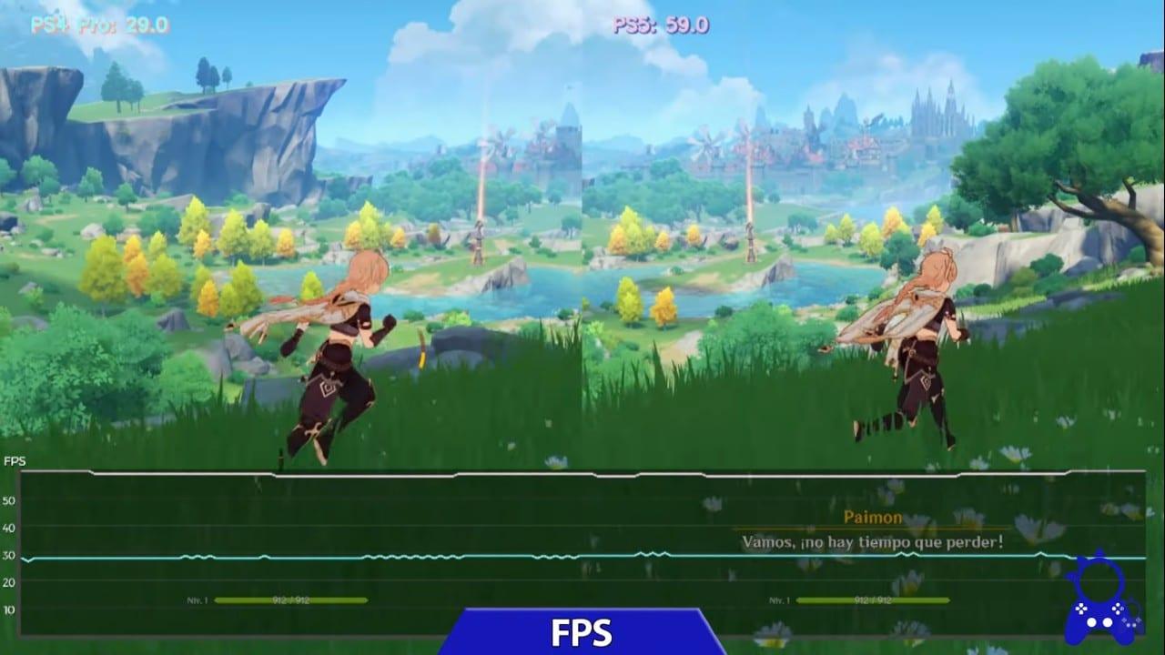 Genshin Impact - Taxa de Quadros - PS5 varia um pouco na taxa de quadros