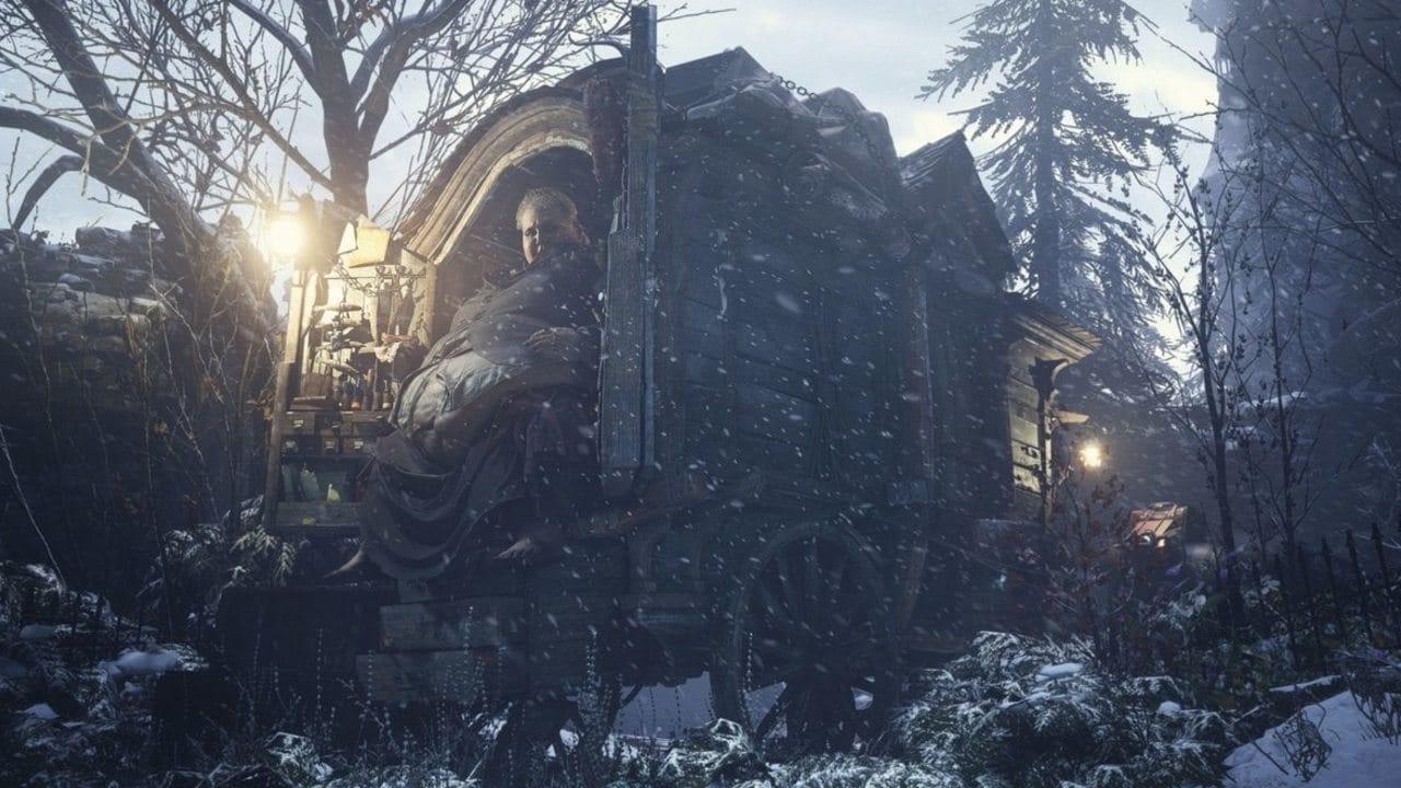 Loja do Duke - Resident Evil Village - Loja do Duke no meio de muita neve