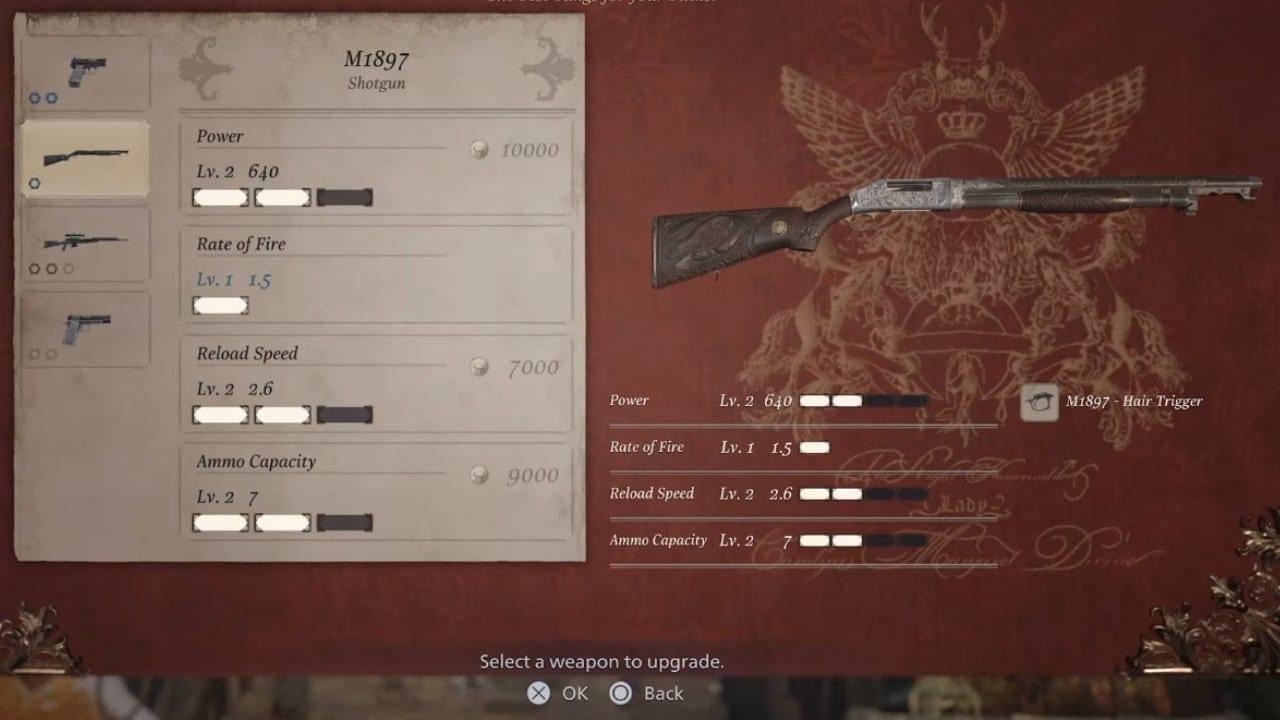 Loja do Duke - Resident Evil Village - Upgrade das armas com o NPC Duke.