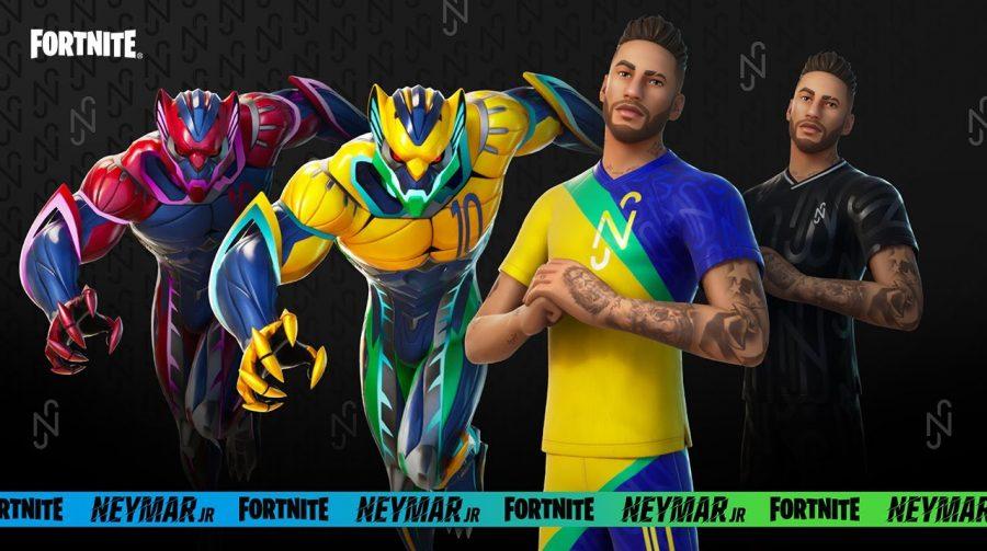 Neymar em Fortnite: Epic revela skin e primeiro trailer do jogador no game