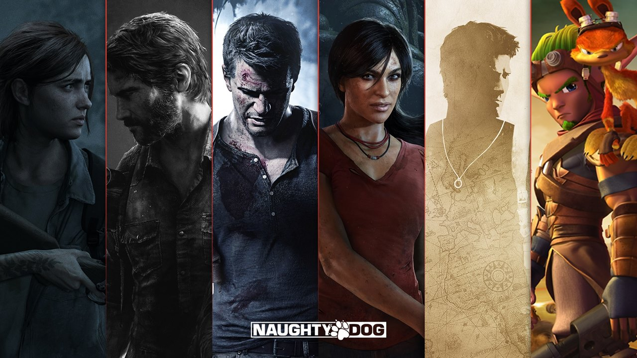 Protagonistas dos jogos produzidos pela Naughty Dog.