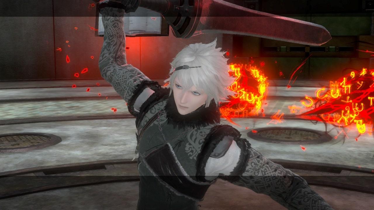 Imagem que mostra o personagem principal de NieR Replicant segurando uma espada
