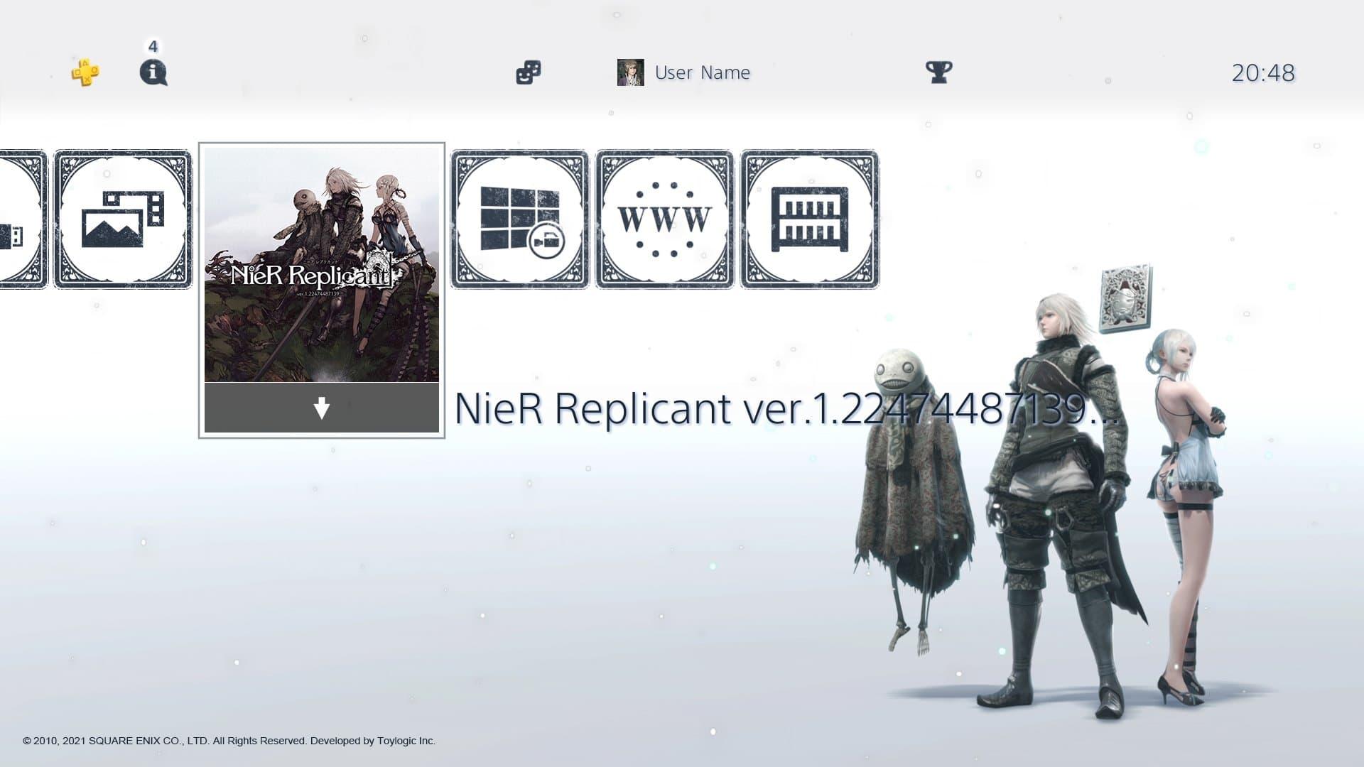 Tema de PS4 de NieR Replicant