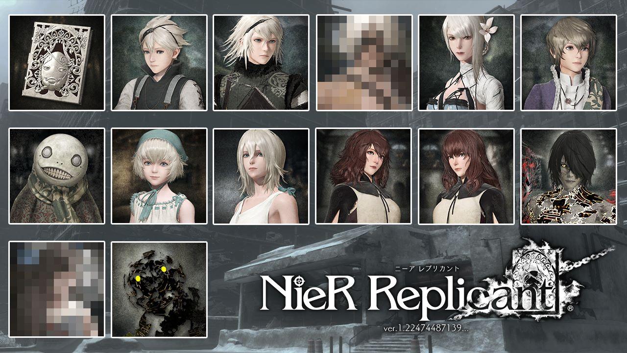 Conjunto de avatares de NieR Replicant.
