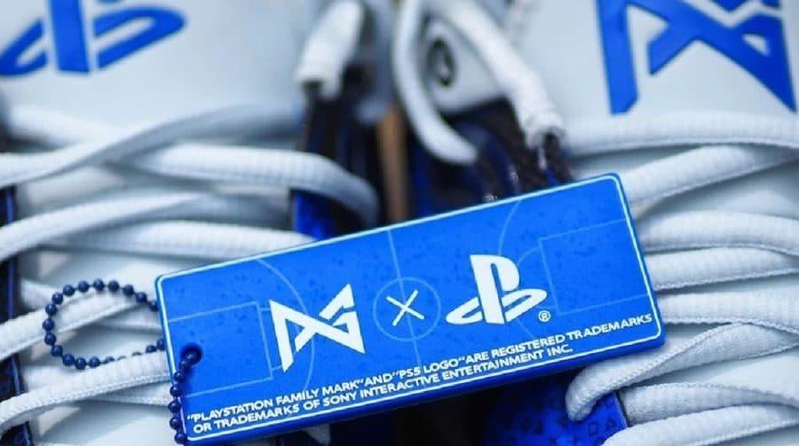 Paul George se junta à Nike para desfilar com um tênis inspirado no PS5