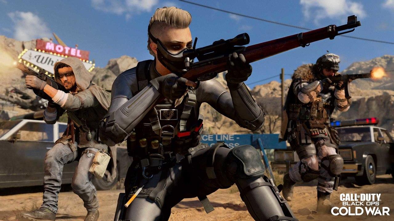 Imagem de capa de uma operadora apontando um rifle na 3ª temporada de Warzone e Cold War
