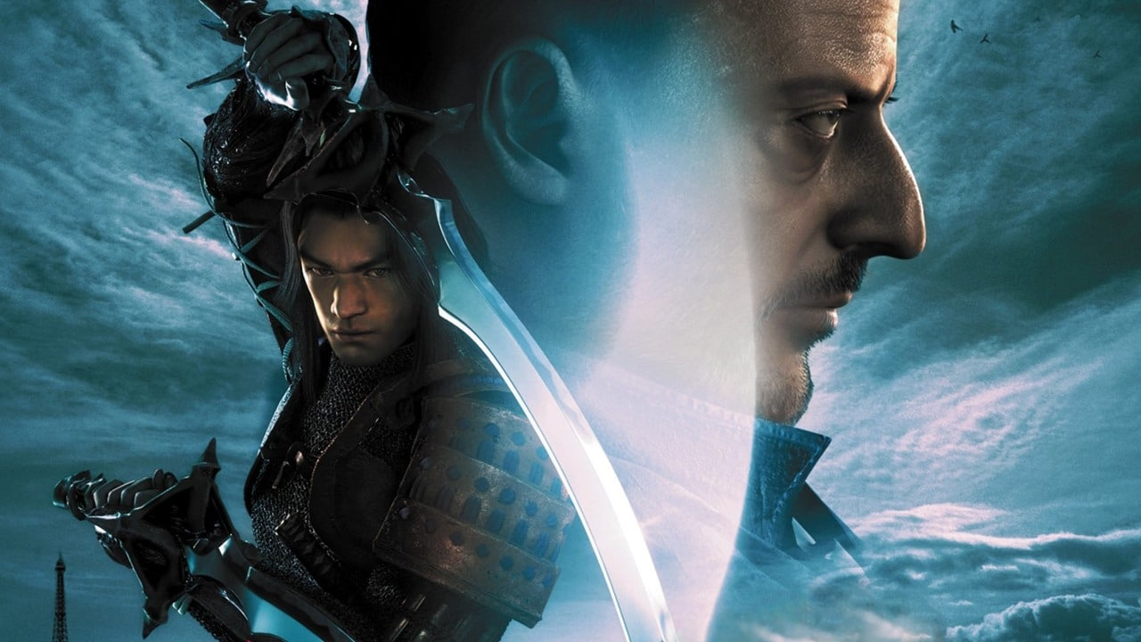 Onimusha 3, um dos melhores jogos de PlayStation 2 publicados pela Capcom, com os protagonistas na capa.