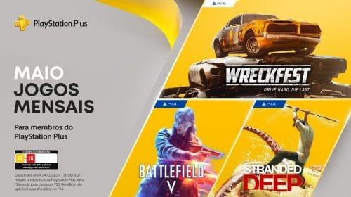 PS Plus de maio terá Battlefield V, Stranded Deep e Wreckfest
