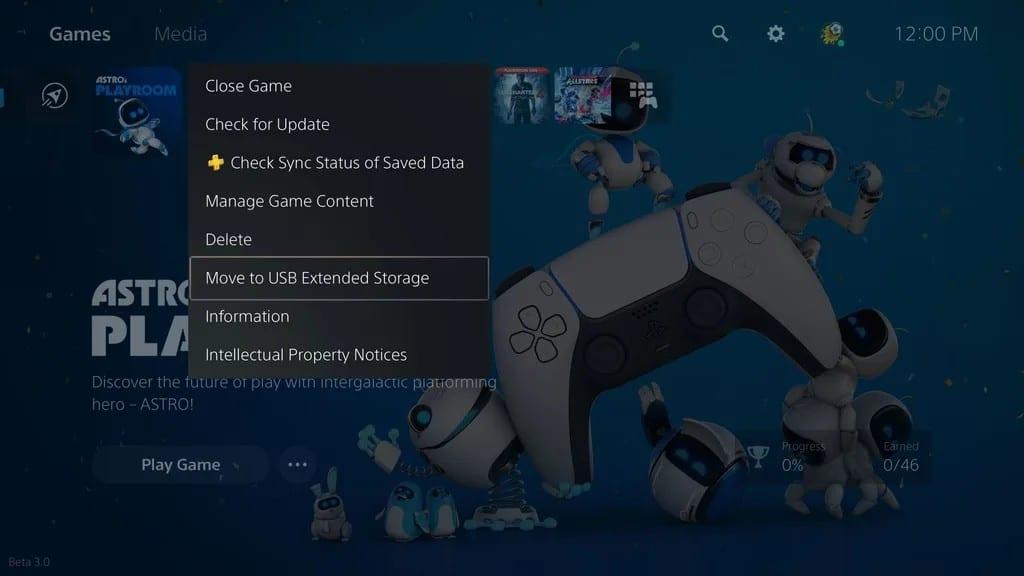 Menus do PlayStation 5 com DualSense em destaque