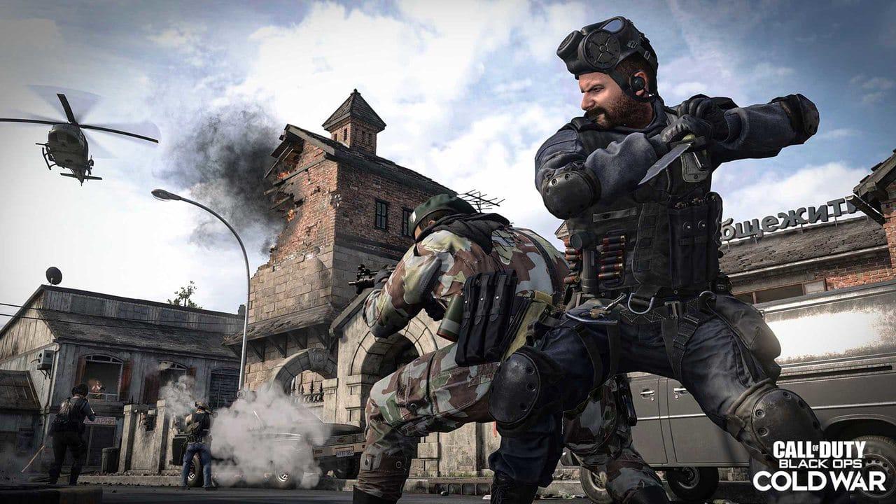 Imagem do novo operador Price da 3ª temporada de Black Ops Cold War e Warzone com uma arma