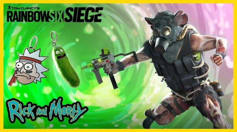 Pickle Rick! Rainbow Six Siege terá crossover com Rick and Morty