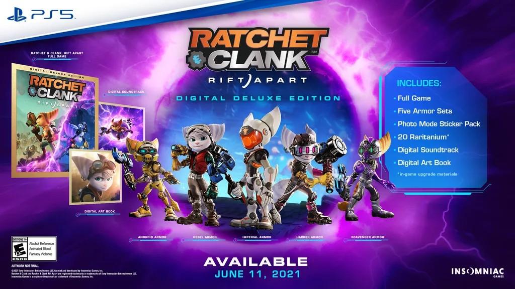Regalias da edição Digital Deluxe de Ratchet & Clank: Em Uma Outra Dimensão