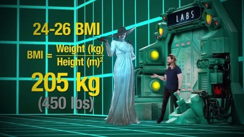 Resident Evil Village: segundo cálculo, Lady Dimitrescu pesa 205 kg