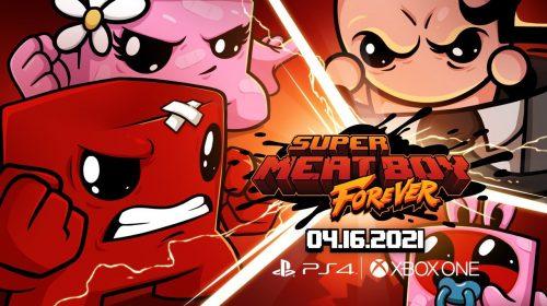 Lançamento de Super Meat Boy Forever no PS4 será em 16 de abril