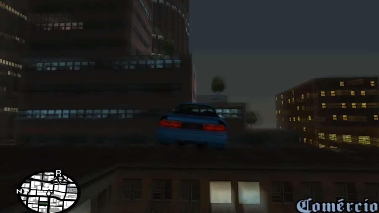 Carro voando em GTA San Andreas