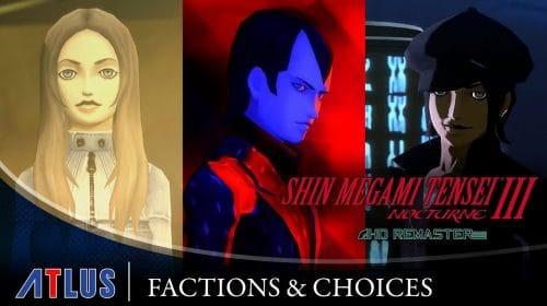 Trailer de Shin Megami Tensei III: Nocturne HD destaca as escolhas das facções