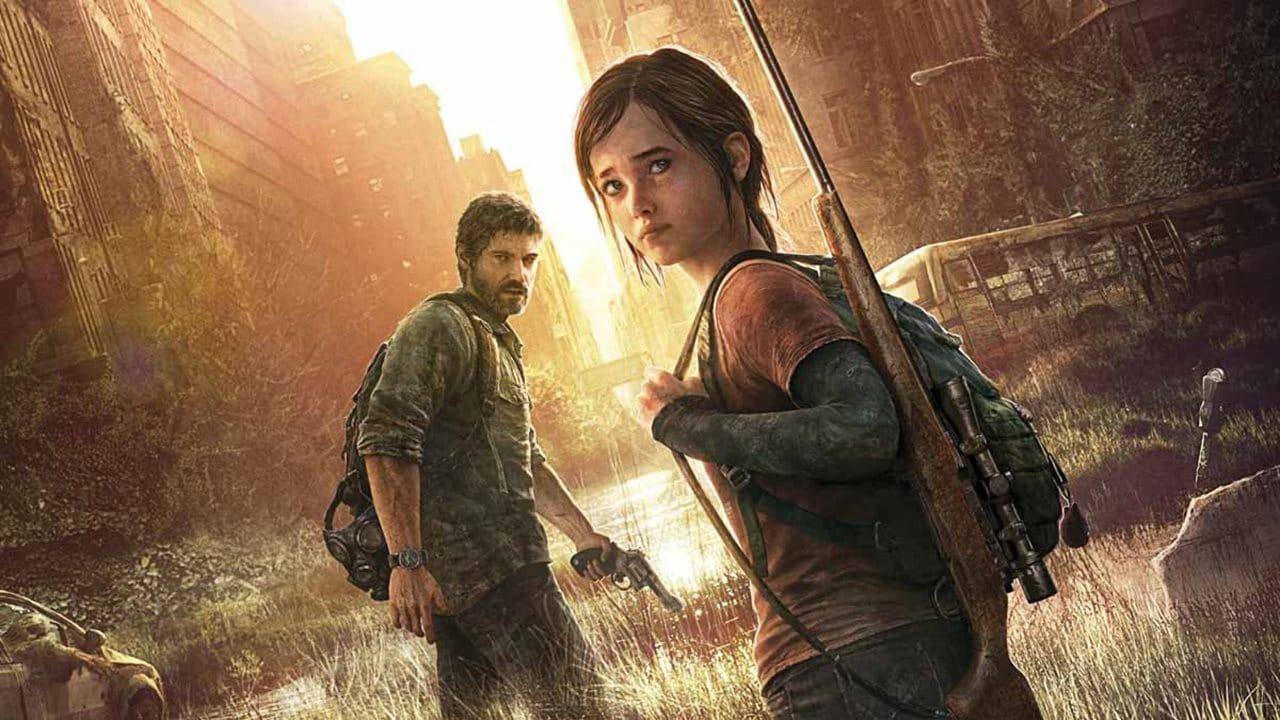 Ellie e Joel de The Last of Us em uma rua tomada pelo tempo