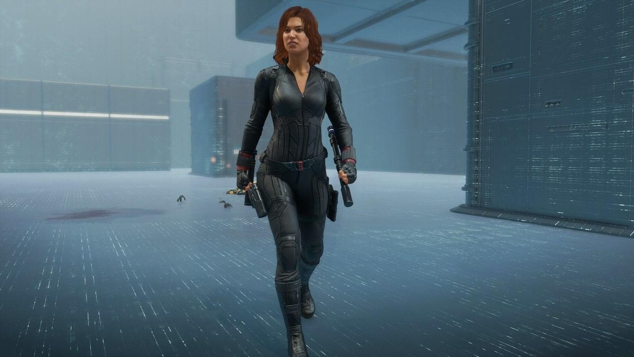 Imagem de Viúva Negra em Marvel's Avengers andando