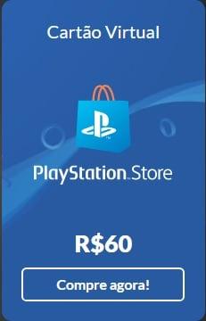 Cartão Virtual - PlayStation Store - R$ 60