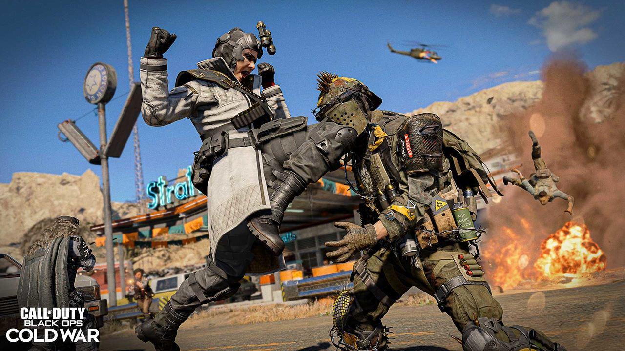 Imagem de dois soldados se batendo na 3ª temporada de Black Ops Cold War e Warzone