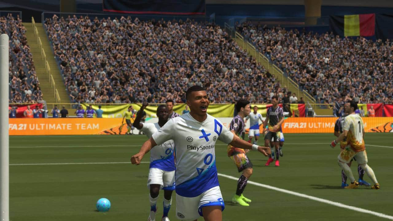 FIFA 21 - PlayStation FC Kit - Mbappe celebrando um gol