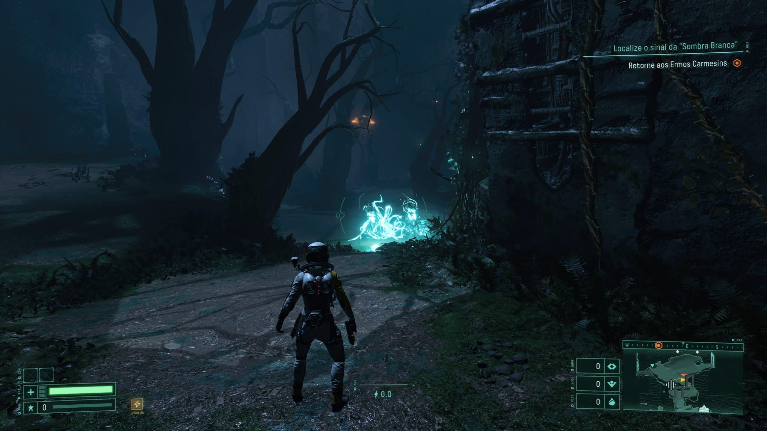 Variação do mapa deixa o jogador doido em Returnal (Foto: Reprodução/Thiago Barros)