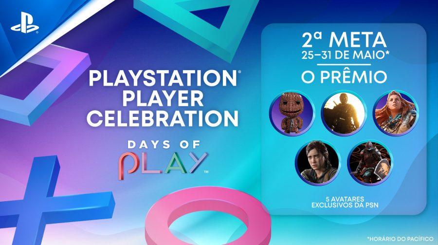 Days of Play: 2ª meta é batida e Sony oferece avatares para os jogadores