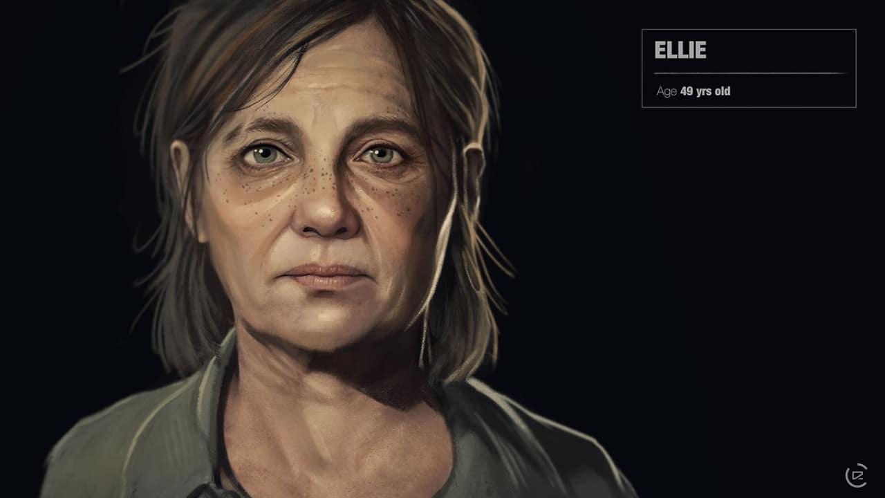 Imagem de capa da Ellie de The Last of Us 2 com uma versão mais velha