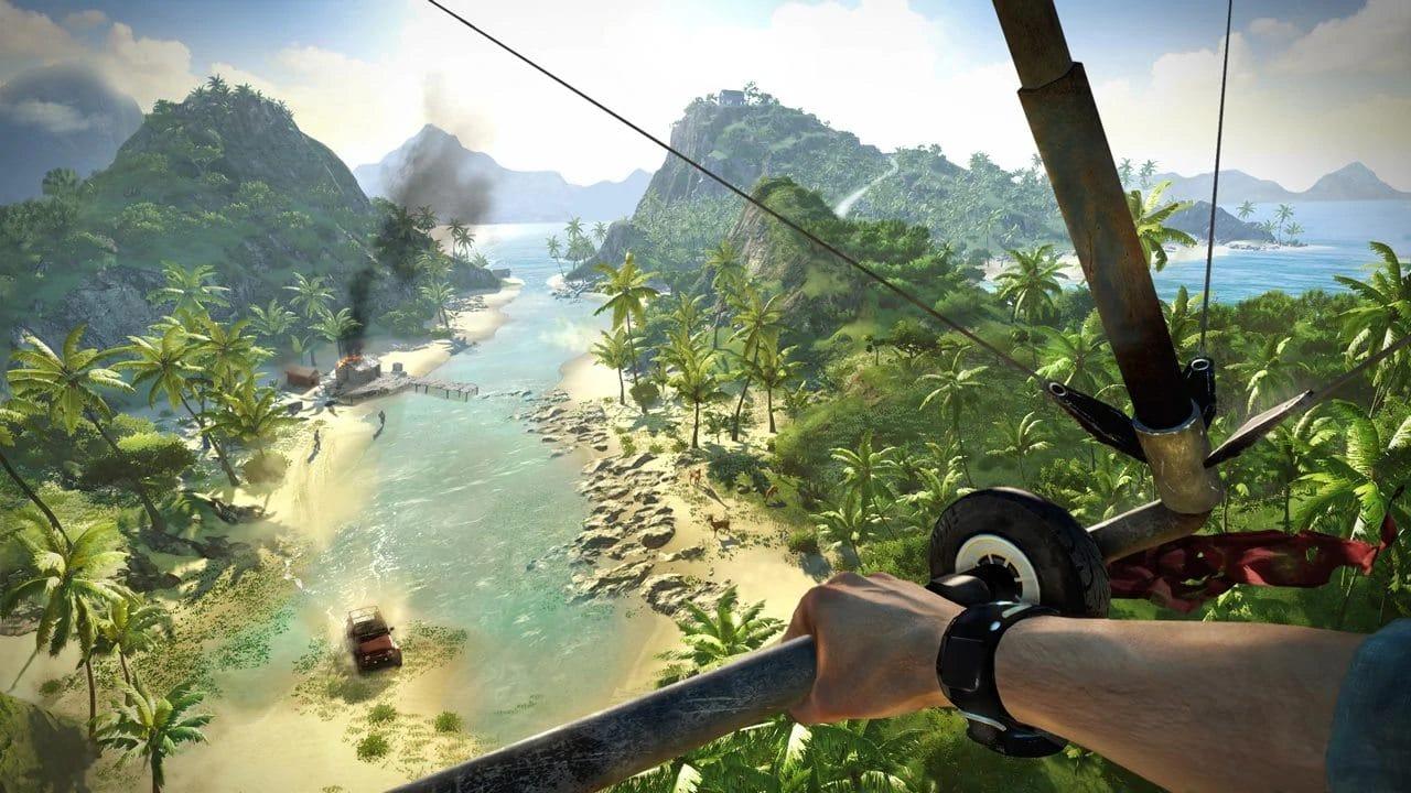 Far Cry 3 - top 10 jogos de mundo aberto do PlayStation